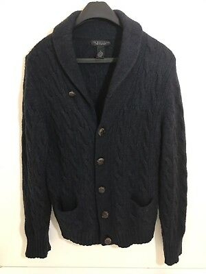 Bloomingdales The Men's Store Wool Blend Cable Knit Cardigan Sweater XLarge XL