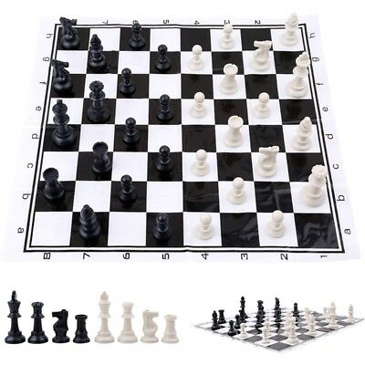 Plastic International Competition Chess Pieces with Chess Board Set Game Toy HS