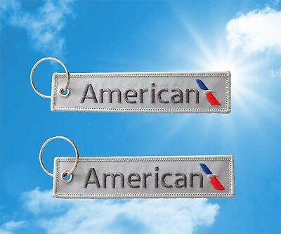 American Airlines keychain luggage baggage tag