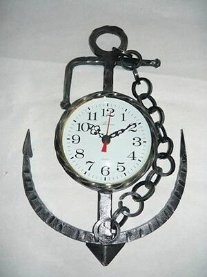 Wall clock wrought iron ANCHOR NAUTICA SEA