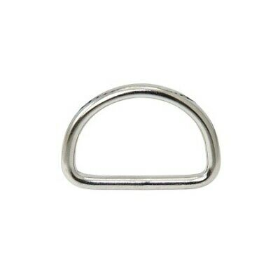 Stainless Steel D Ring AISI316 4mm x 35mm X10 pcs