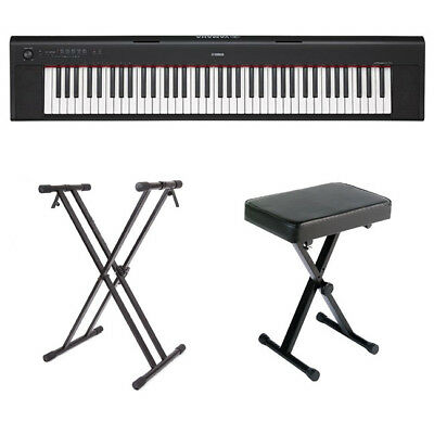 Yamaha NP32 Portable Digital Piano in Black with Stand and Bench