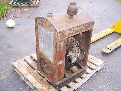Old LEROI Two Cylinder Power Unit Engine Hit Miss Gas Engine Early Tractor Steam
