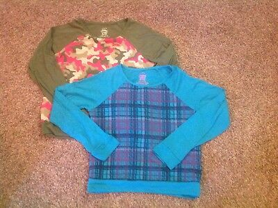 Girls Long Sleeved Shirts by Faded Glory Size Large (10/12)
