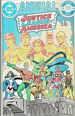 Justice League Annual #2  First Appearance Vibe  Giant-Size  Dc  1984  Nice!!!