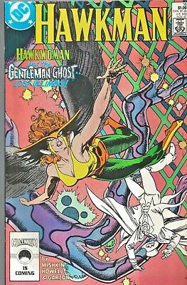 Hawkman #16  The Gentleman Ghost *  Hawkwoman  Dc  1987   Nice!!!