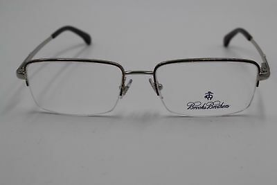 6e137c28dd New Brooks Brothers Bb 1035 1658 Silver Eyeglasses Authentic Rx Bb1035 53 -17-140