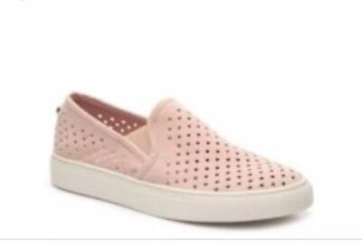 26670687acd New Steve Madden Owen Light Pink Suede Slip On Sneakers Shoes Size 10