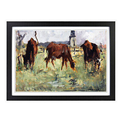 Framed Picture Print A2 Edouard Manet Cows in a Field Painting Wall Art
