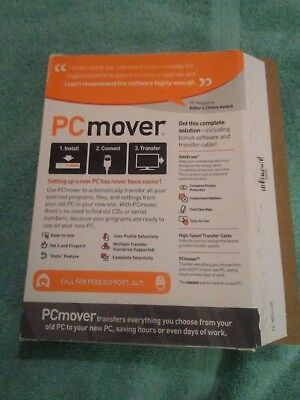 LAPLINK PC MOVER ULTIMATE & SAFE ERASE w/sealed transfer cable & sealed CD;1 use