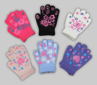 Magic Gripper Gloves Warm Thermal Stretch Boys Girls Kids Childrens