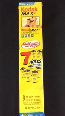 Kodak Max 400 Versatility EXPIRED 6/2005 14 Rolls 35 mm Factory Sealed