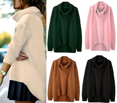 Women Warm Winter Turtleneck Sweater Pullover Thick Knitted Tops Soft Elasticity