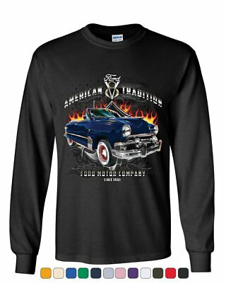 American Tradition Ford Motor Company Long Sleeve T-Shirt Classic Since 1903 Tee