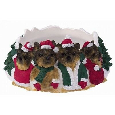 Yorkie Holiday Candle Topper Ring