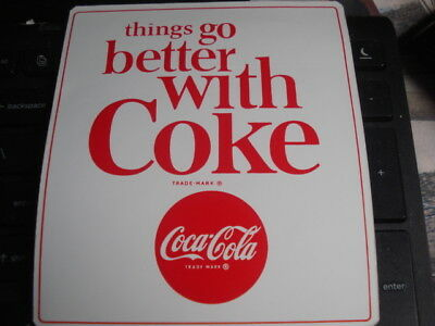 things go better with coke 60s-70s decal  sticker original coca cola
