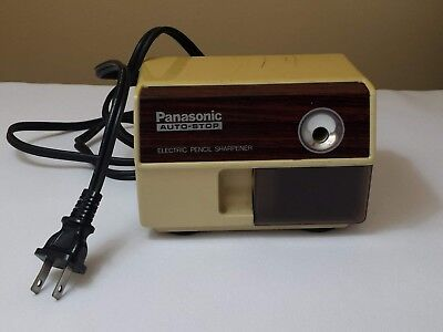 Vintage KP-110 PANASONIC Auto-Stop Electric Pencil Sharpener Japan Tested Works!
