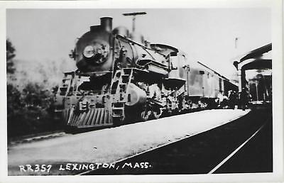 Lexington, Massachusetts Railroad Depot Real Photo Postcard- RPPC