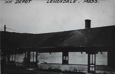 Lenoxdale, Massachusetts Railroad Depot Real Photo Postcard- RPPC