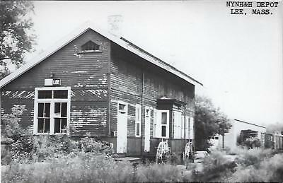 Lee, Massachusetts Railroad Depot Real Photo Postcard- RPPC
