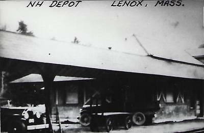 Lenox, Massachusetts Railroad Depot Real Photo Postcard- RPPC
