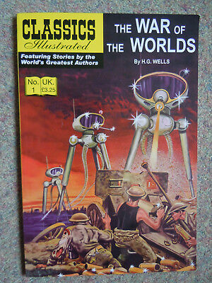 Classics Illustrated The War of the Worlds by H G Wells very good condition