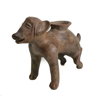 Pre-Columbian COLIMA Mexico Pottery Skinny Smiling Dog Vessel