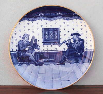 """Large Minton Charger, 20"""" Musicians, impressed date 1877 RARE LARGE!"""