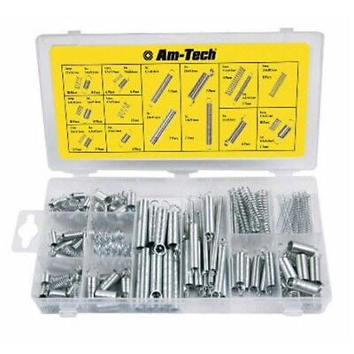 150 Piece Spring Assortment Pack - 150pc Compressed Tension Set Extension