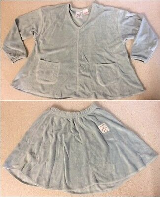 Wholesale Joblot of 23 M&S Girls Blue 100% Cotton Towelling Skirts & Tops Sets