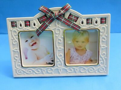 "Lenox ""Double Frame"" Christmas Giftables w/Ribbon"
