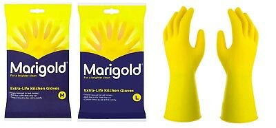 Marigold Kitchen Gloves Extra Life Kitchen Washing up Cleaning Rubber Gloves S/M