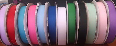 "Grosgrain ribbon 7/8"" - 22mm, Pink, Blue, Red, Green ,lavender, Sold by 2 Metres"