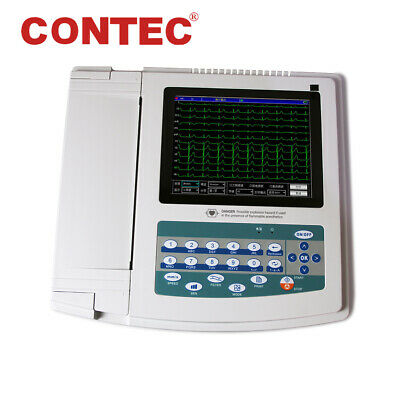 CE FDA ECG1200G Digital 12 channel ECG Machine Electrocardiograph,Touch,Software