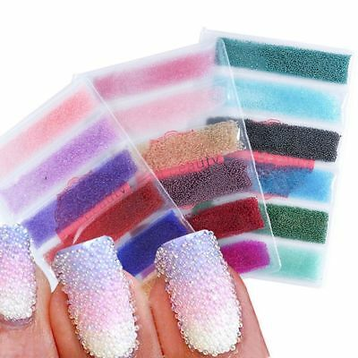 6 Colors/set Caviar Mini Balls Micro Beads Nail Art Acrylic UV 3D Decoration.