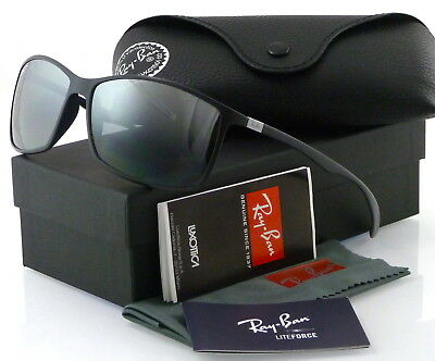 9331926857ed6 Ray-Ban Liteforce Rb4179 601S82 62Mm Matte Black   Polarized Silver Mirror