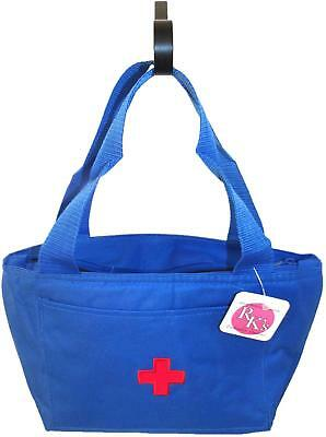 Medical Red Cross Blue Cooler Bag Lunch Pail Tote Doctor Nurse Paramedic NWT!