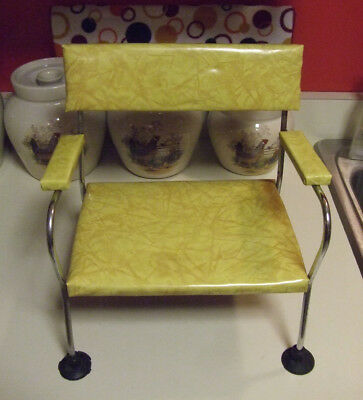 Childs Booster Seat Chair Eames Atomic Era Yellow Cracked Ice Stanley Products