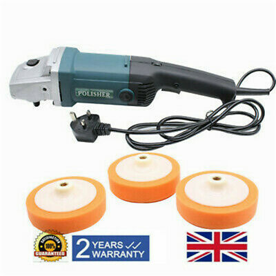 Variable Speed Car Polisher Sander Polishing Machine Buffer Waxer Tool 1400W UK