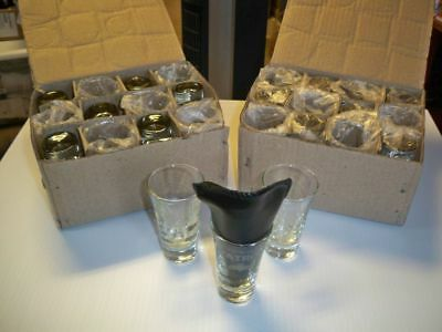 "24 Patron Tequila ""bee"" Shot Glasses. Etched Glass Shot Glasses. Patron Tequila"