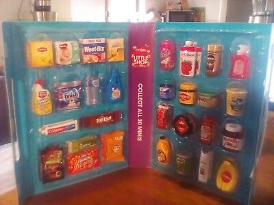 Coles Little Shop Minis Full Set In Collector's Case- Brand New