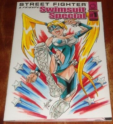Street Fighter & Friends Swimsuit Special #1  Sketch Art By Humberto Fuentes.