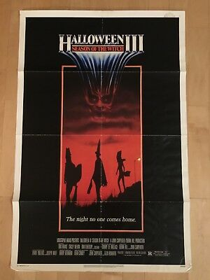 Halloween 3 Season Of The Witch original one sheet movie poster 1982