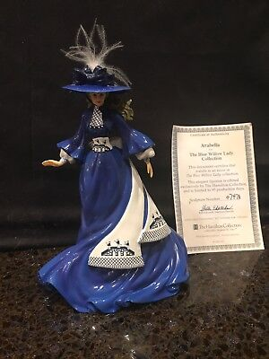 """""""Arabella"""" Figurine From The Hamilton Blue Willow Lady Collection No: 0747A COA"""