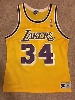 e8f459f09 netherlands vintage 90s champion nba los angeles lakers 34 shaquille oneal  jersey shirt 44 38438 72990