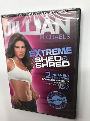 Jillian Michaels Extremo Cobertizo & Shred (DVD) Veleros Rápido No Estuche Art