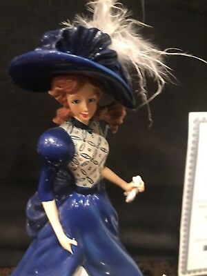 """Fiona"" Figurine From The Hamilton Blue Willow Lady Collection No: 0218A  COA"
