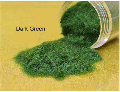 Static Grass for Model Railway  Architecture Scenery Dark Green Color