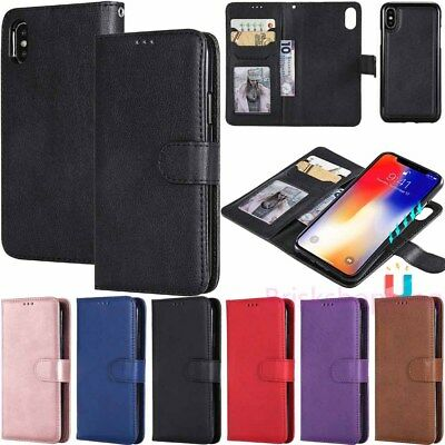 Magnetic Removable Wallet Leather Flip Case Cover For iPhone XR XS Max 6s 7 Plus