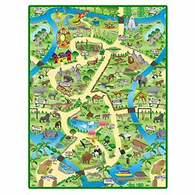 Play Mat, Zoo 120 x 100cm, All Weather PVC Coated and Scratch Resistant, For use